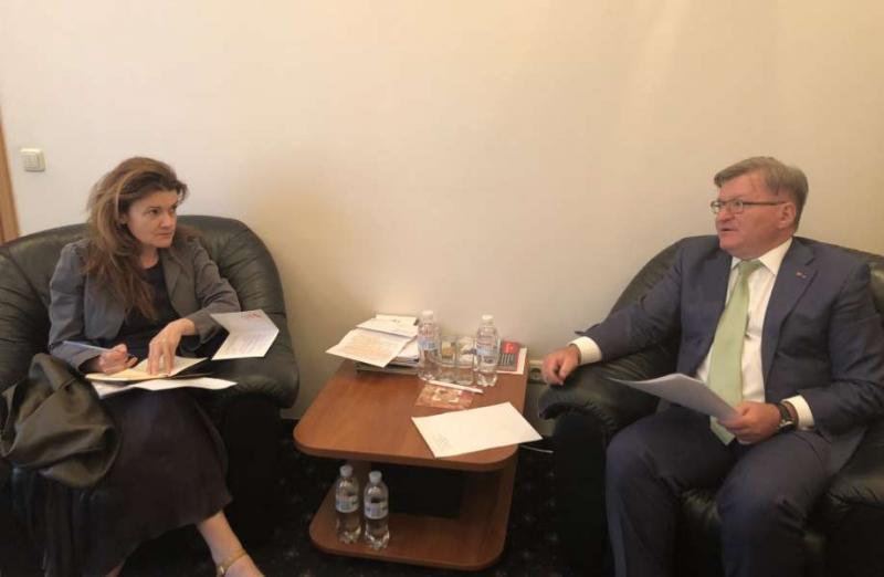 Голова Комітету з прав людини Григорій Немиря провів зустріч з головою Моніторингової Місії ООН з прав людини Фіоною Фрейзер