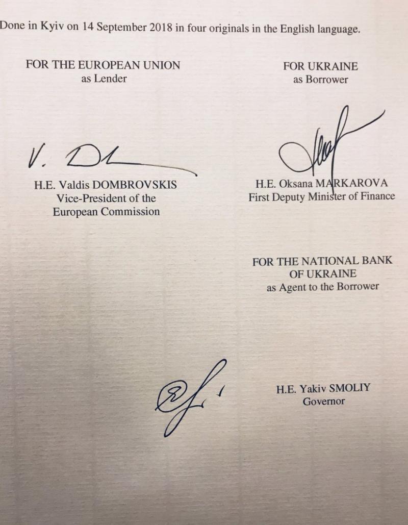 Рішення про надання мільярда євро від ЄС набуло чинності