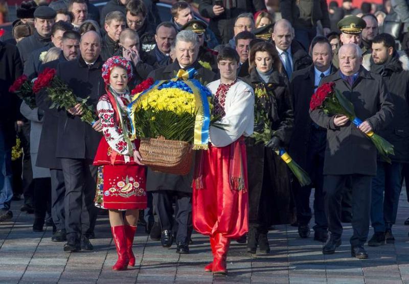 З нагоди Дня Соборності України на Софійській площі у Києві відбулися урочисті заходи за участі керівників Української Держави