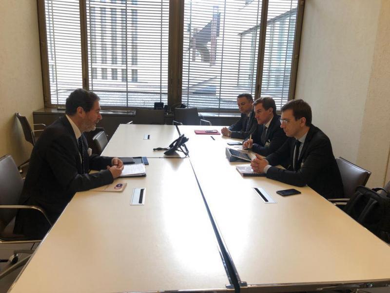 Міністр інфраструктури України Володимир Омелян провів низку двосторонніх зустрічей у рамках робочої поїздки до Швейцарії