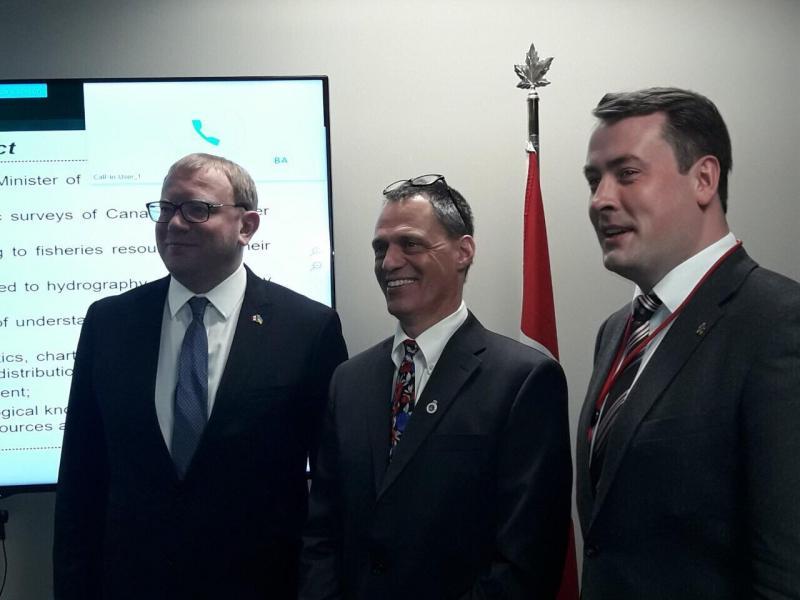 Держгідрографія налагоджує відносини з Гідрографічною службою Канади та канадськими компаніями