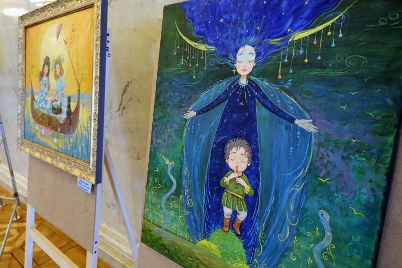 У кулуарах парламенту триває виставка живопису Катерини Дудник