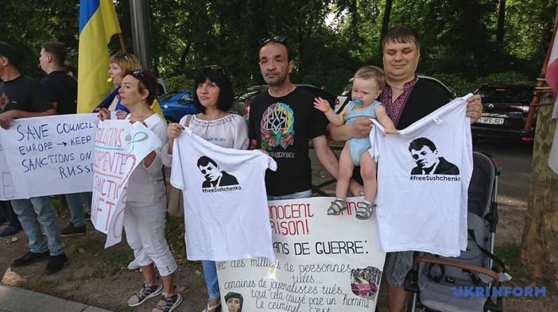 Під Радою Європи протестують проти повернення Росії у ПАРЄ