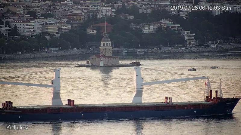 Сирійське судно з зерном помітили на шляху з порту в окупованому Криму