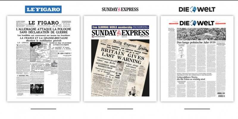 Cвітові газети вийдуть з обкладинками 1939 року з нагоди 80-ї річниці початку Другої світової