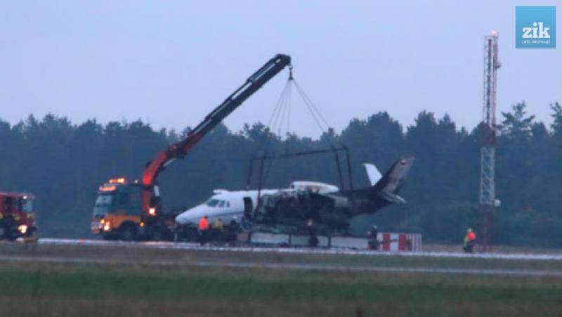 У Данії загорівся літак з командою співачки Pink