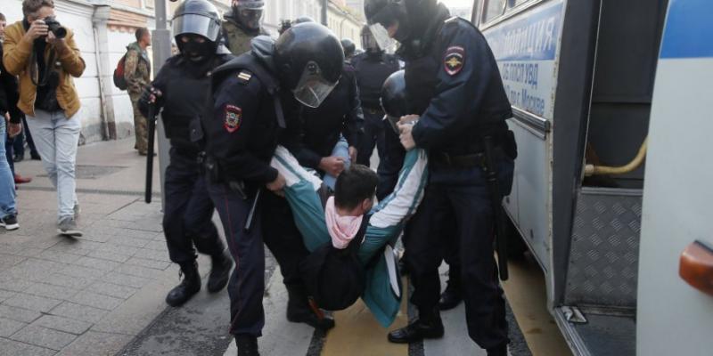На мітингу в Москві затримали 178 учасників