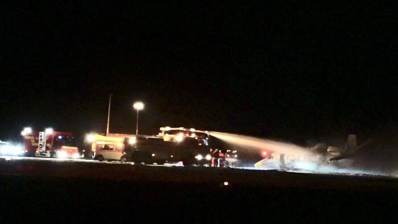 Літак з командою співачки Pink загорівся при посадці в Данії
