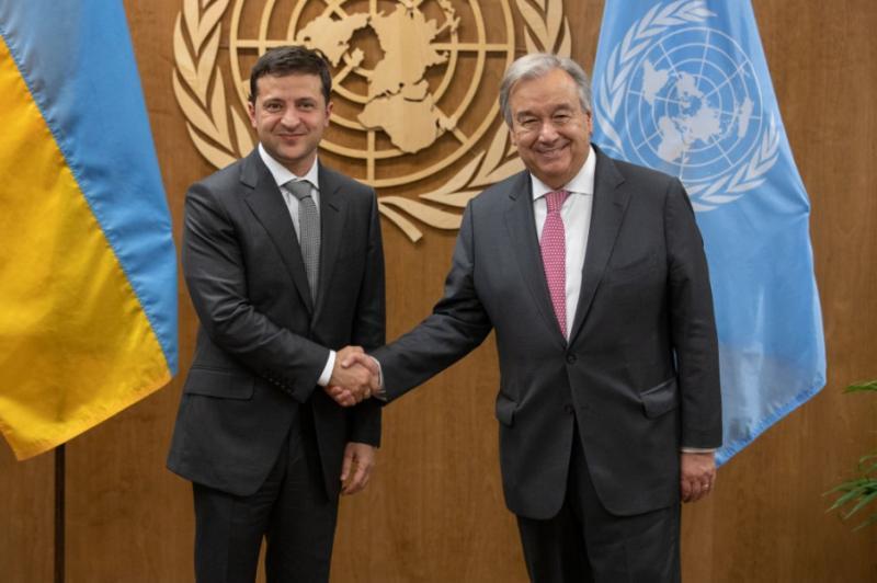 Зеленський у США зустрівся з Генеральним секретарем ООН