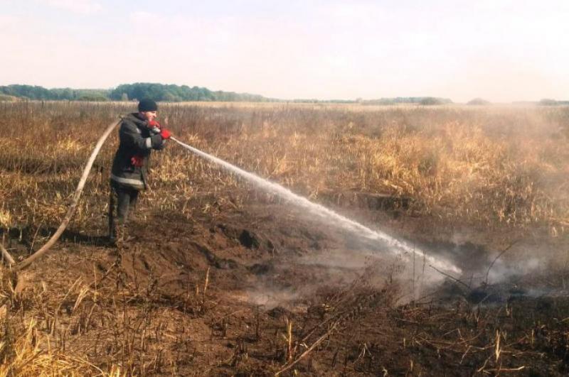 На Чернігівщині вогнеборці продовжують гасити пожежі на торфовищах