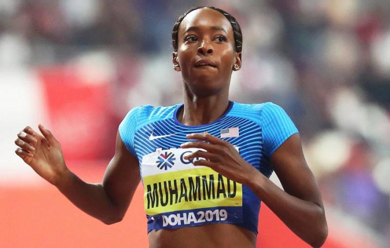 Легкоатлетка Далайла Мухаммад з США на ЧС-2019 встановила світовий рекорд в бігу на 400 м з бар'єрами
