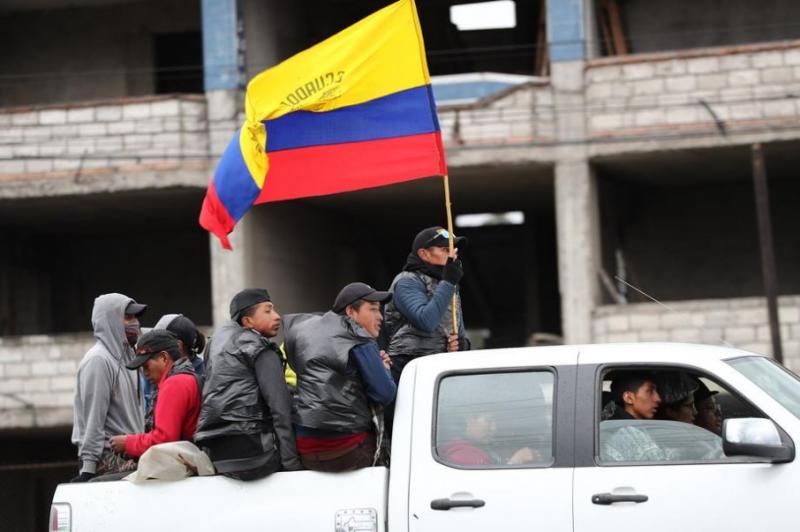 Уряд Еквадору покинув столицю Кіто