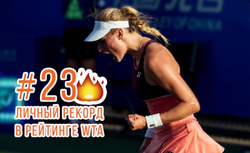 Даяна Ястремська вперше увійшла в ТОП-25 світового рейтингу тенісисток