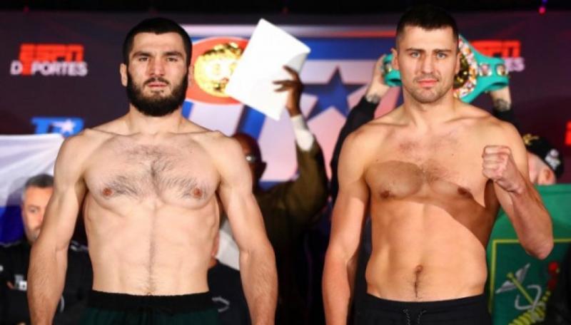 Олександр Гвоздик і Артур Бетербієв перед боєм на зважуванні показали майже однакову вагу