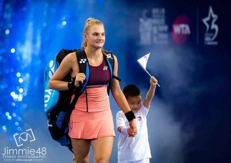 Даяна Ястремська обіграла хорватку Донну Векич на тенісному турнірі WTA Elite Trophy