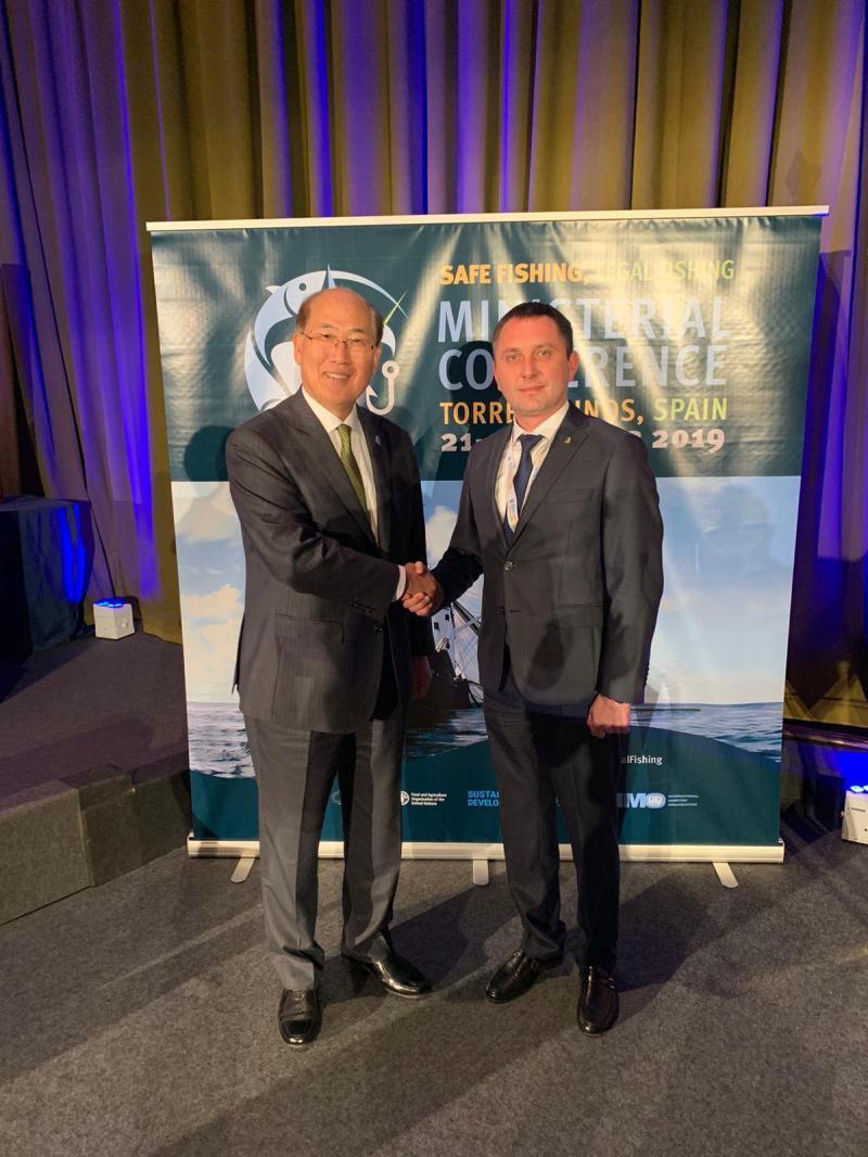 Заступник Міністра інфраструктури Юрій Лавренюк провів зустріч із Генеральним секретарем ІМО паном Кітак Лімом