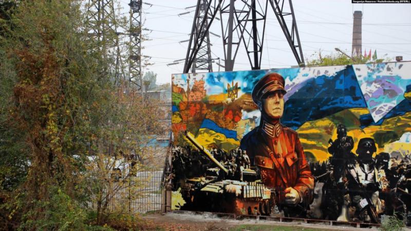 У Запоріжжі презентували мурал із зображенням генерала УНР Марка Безручка