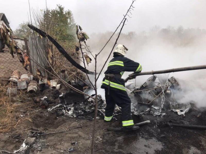 За фактом падіння літака на Полтавщині відкрили кримінальне провадження