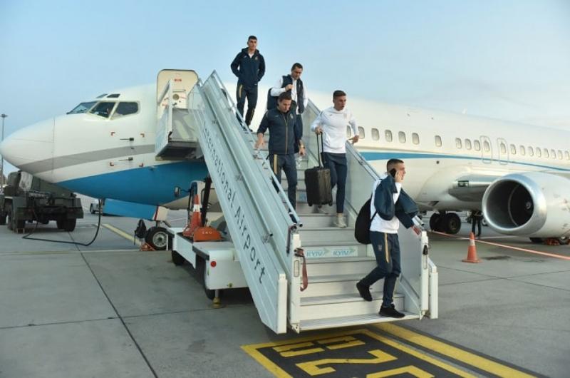 Національна збірна України прибула до Києва на гру Євро-2020 проти Португалії