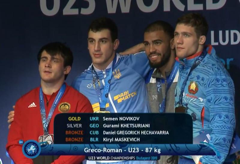 Семен Новіков здобув «золото» молодіжного ЧС-2019 з греко-римської боротьби