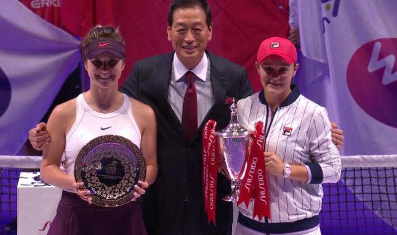 Еліна Світоліна програла першій «ракетці» світу Ешлі Барті у фіналі Підсумкового турніру року WTA