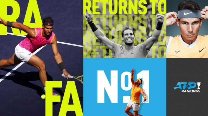 Іспанський тенісист Рафаель Надаль вперше за рік очолив світовий рейтинг