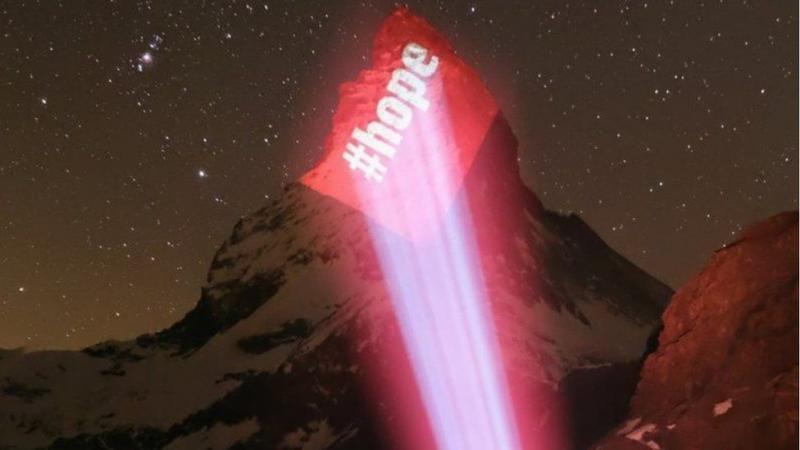 На найвідомішій вершині Швейцарії написали заклик до громадян через коронавірус