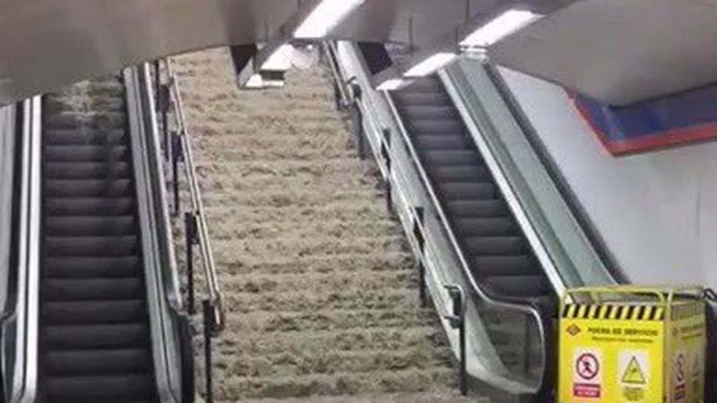 Сильна злива паралізувала рух на кількох лініях в метро Мадрида
