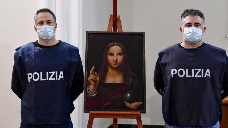 """У Неаполі знайшли вкрадену 500-річну копію """"Спасителя світу"""" Леонардо да Вінчі"""