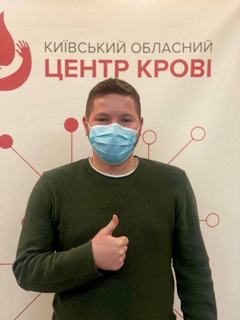 Популяризуємо донацію крові, щоб рятувати людські життя, - Владислав Криклій