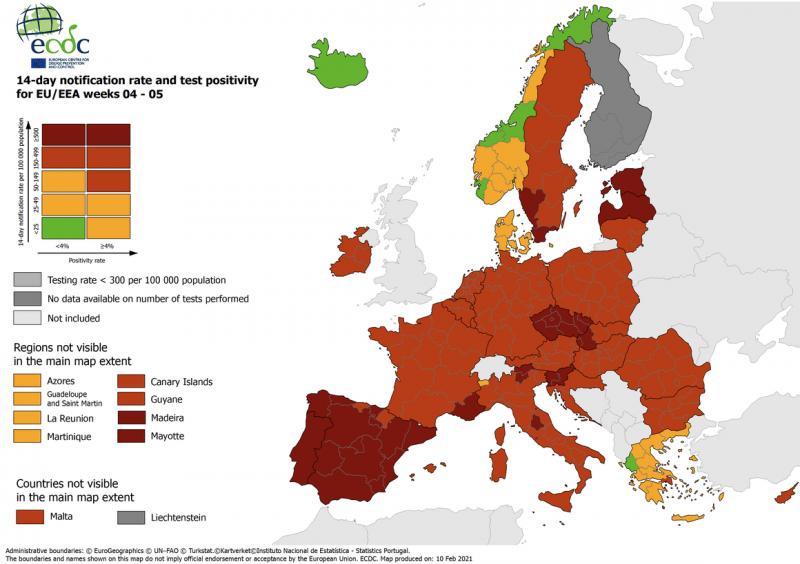 """МОЗ помилково вніс до """"зеленого"""" списку низку країн Європи"""