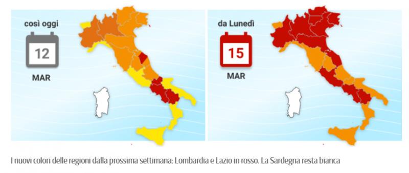 """В Італії - майже 27 тисяч заражень за добу, пів країни переходить до """"червоної"""" зони"""