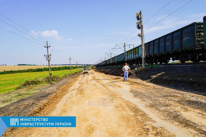 Розпочали влаштування та електрифікацію другої головної колії на дільниці Чорноморська — Берегова