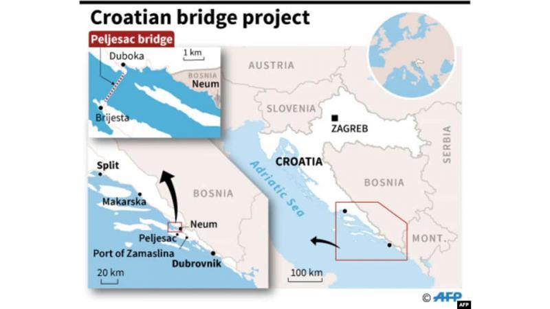 В Хорватії завершили спорудження мосту, що з'єднав розділені частини країни