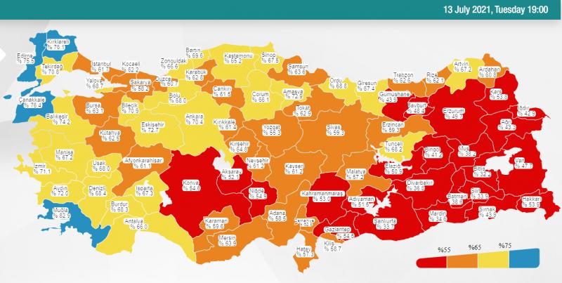 Туреччина досягла позначки у 60 млн щеплень від коронавірусу