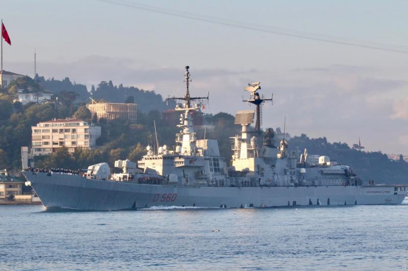 Італійський ракетний есмінець увійшов у Чорне море