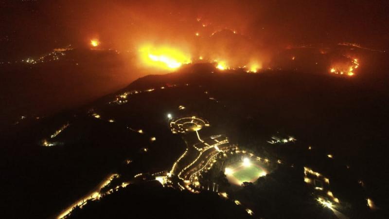 У Греції рятують від лісових пожеж Стародавню Олімпію