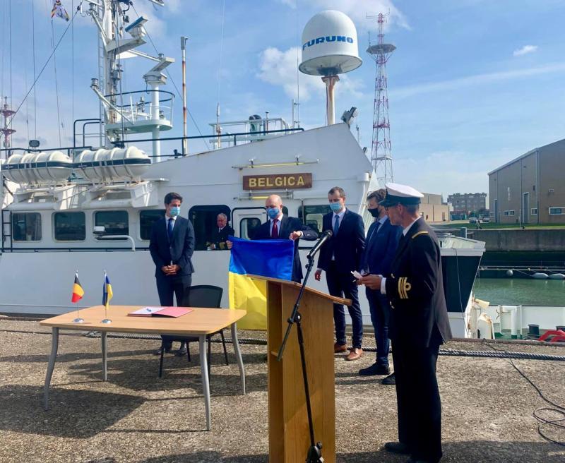 Бельгія передала Україні судно для екологічного моніторингу Чорного та Азовського морів