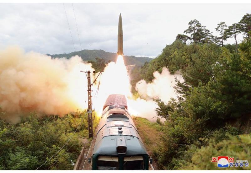 КНДР показала запуск балістичної ракети з потяга